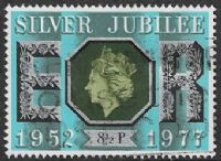 GB SG1033 1977 Silver Jubilee 8½p good/fine used